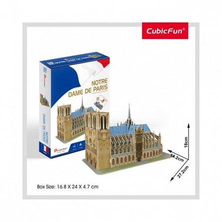 Puzzle 3D CubicFun - Notre Dame, 53 piese
