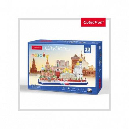 Puzzle 3D CubicFun - Moscova, 107 piese