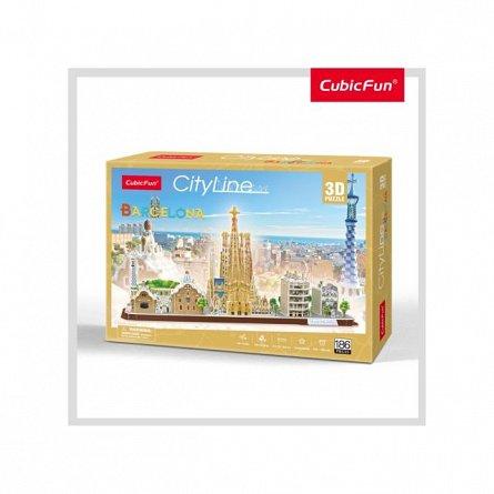 Puzzle 3D CubicFun - Barcelona, 186 piese