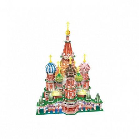 Puzzle 3D LED CubicFun - Catedrala St. Basil, 224 piese