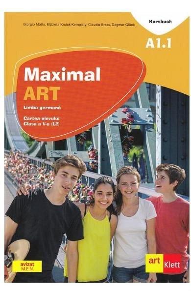 MAXIMAL ART A1.1 LIMBA GERMANA. L2 CLASA 5 CARTEA ELEVULUI + CD + DVD