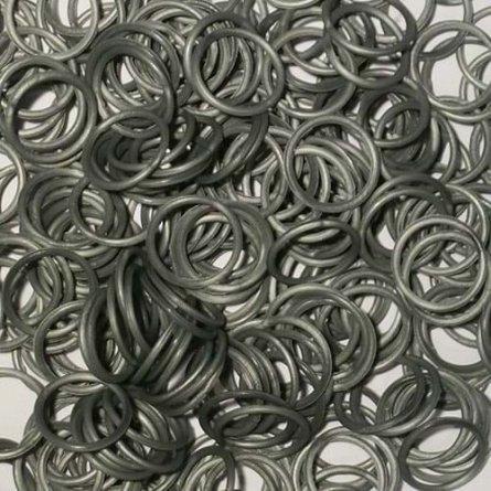 Elastice Rainbow Loom - Metalic Argintiu, 300 buc