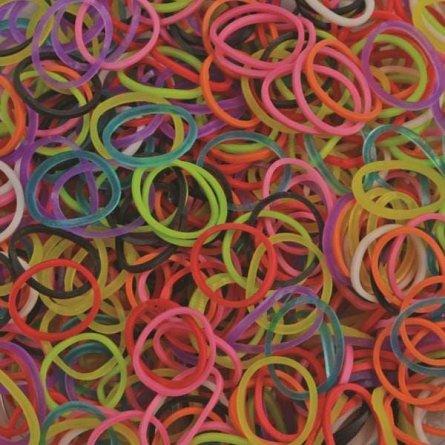 Elastice Rainbow Loom - Standard Mix, 600 buc