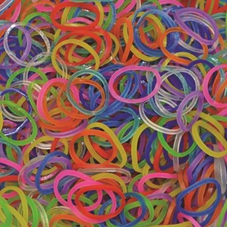Elastice Rainbow Loom - Jelly Mix, 600 buc