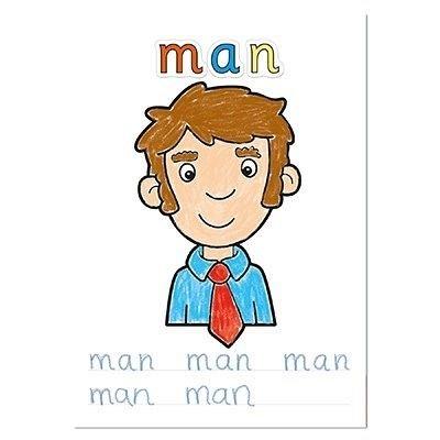 Carte de colorat Primele cuvinte, cu activitati in Limba Engleza si Abtibilduri, Orchard Toys