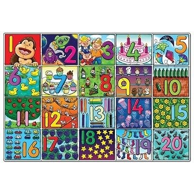 Puzzle de podea Invata numerele (de la 1 la 20), Orchard Toys