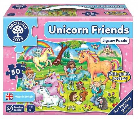 Puzzle Prietenii Unicornului, Orchard Toys