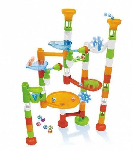 Set constructie Buki France - Labirint cu bile, 80 piese