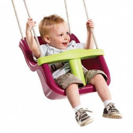 Leagan KBT - Baby Seat Luxe, franghie PP 10, Rosu