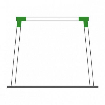 Coltar KBT universal forma patrata, unghi oblic, Verde