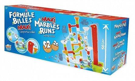 Set constructie Buki France - Labirint mare cu bile - 92 piese