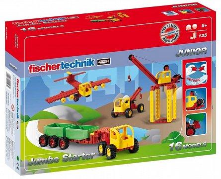 Set constructie Fischertechnik Junior - Jumbo Starter, 16 modele