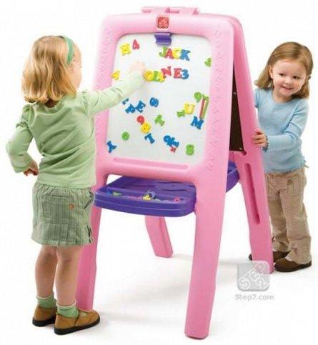 Tabla dubla pentru copii Step2 Easel for Two, Culoare Roz