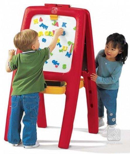 Tabla dubla pentru copii Step2 Easel for Two, Culoare Rosu