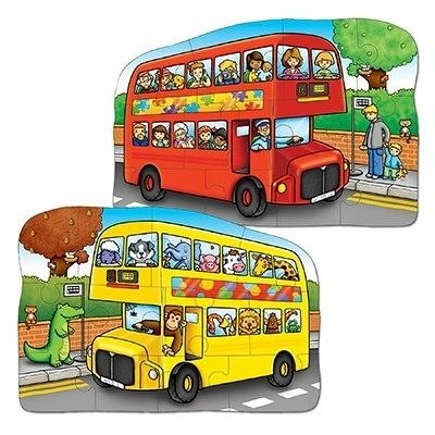 Puzzle fata verso Autobuz, 12 piese, Orchard Toys