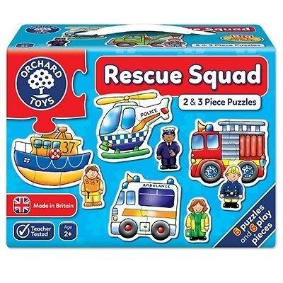 Set 6 Puzzle Echipa de salvare, 2 si 3 piese, Orchard Toys