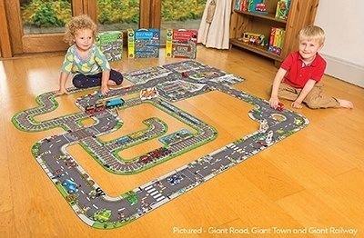 Puzzle de podea Traseu gigant de masini, 20 piese, Orchard Toys