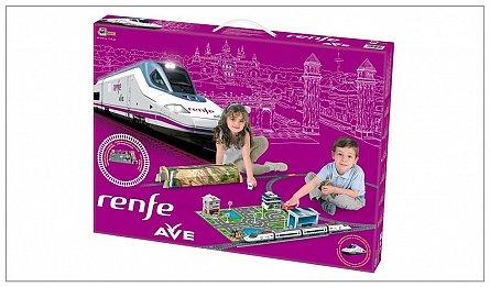 Trenulet electric Pequetren High Speed Renfe cu statie, tunel si oras