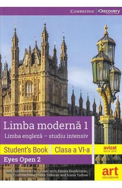 EYES OPEN 2. LIMBA ENGLEZA. LIMBA MODERNA 1 (INTENSIV). CLASA 6. STUDENT'S BOOK + 2 CD + DVD