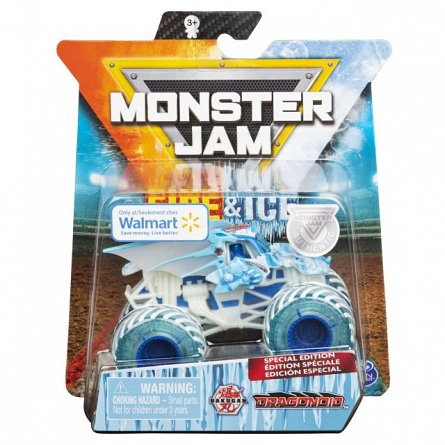Masina Monster Jam - Fire and Ice, Bakugan Dragonoid, 1:64