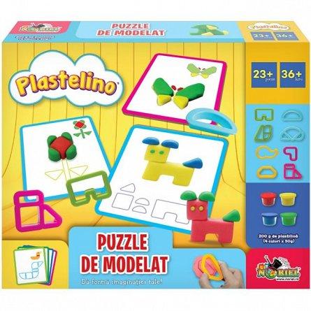 Set de joaca Plastelino - Puzzle de modelat
