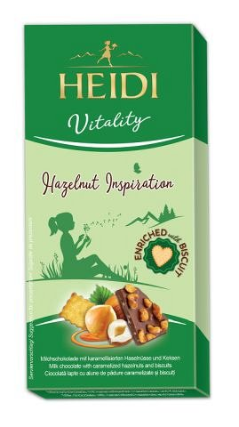 Heidi Vitality, Ciocolata lapte cu alune caramelizate si biscuiti