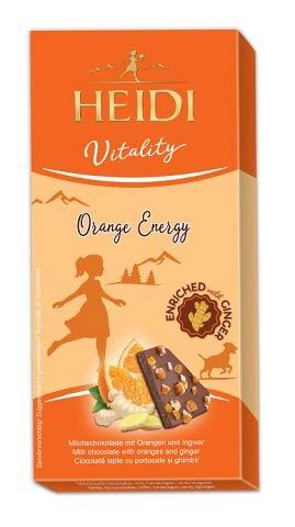 Heidi Vitality, Ciocolata lapte cu portocale si ghimbir