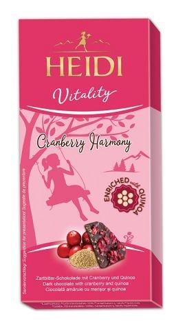 Heidi Vitality, Ciocolata amaruie cu merisoare si quinoa