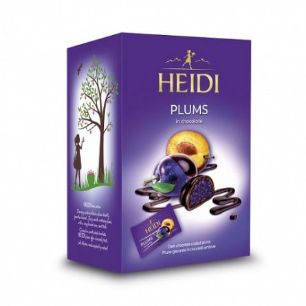 Heidi Plums, prune glazurate in ciocolata amaruie