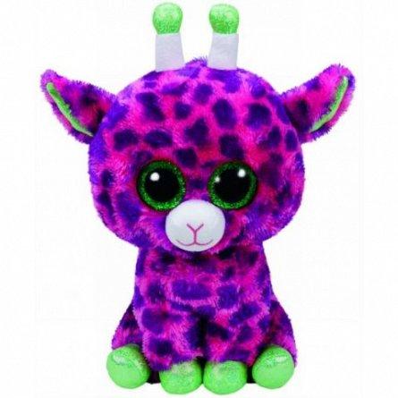 Plus TY Beanie Boos - Girafa roz Gilbert, 24 cm
