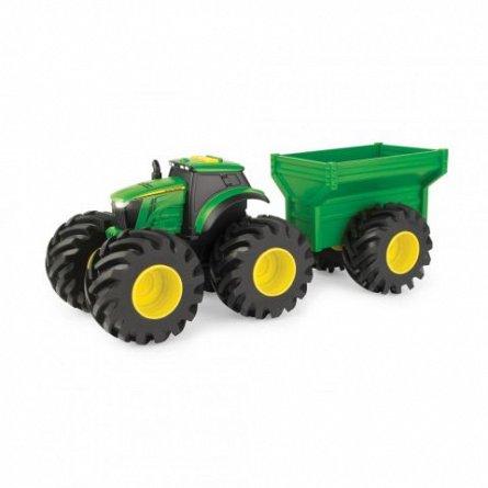 Tractor John Deere - Monster Treads, cu remorca