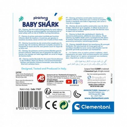 Jucarie rechin cu cuburi, Baby Shark, Clemmy