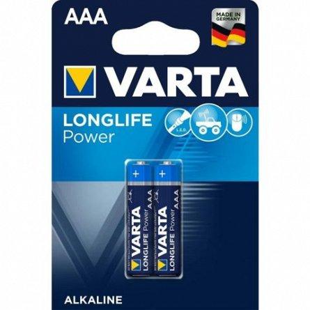 Baterie alcalina AAA LR03 Varta Longlife Power, Blister, 2 buc