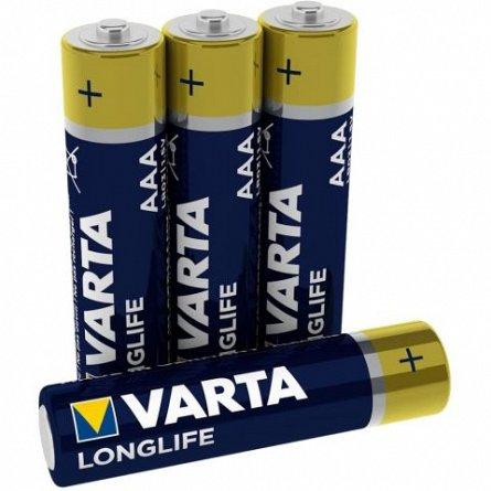 Baterie alcalina AAA LR03 Varta Longlife, Blister, 4 buc