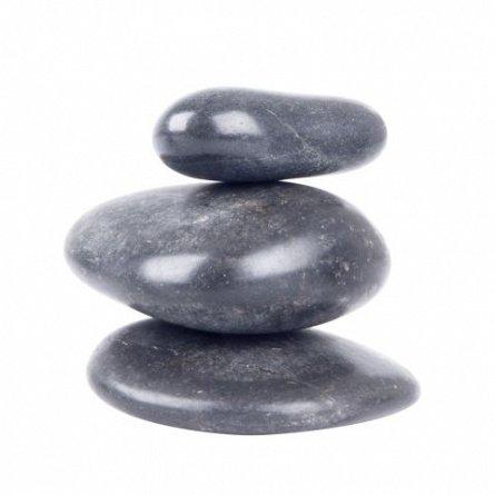 Set pietre masaj inSportline, de rau, 6-8 cm,  3 buc