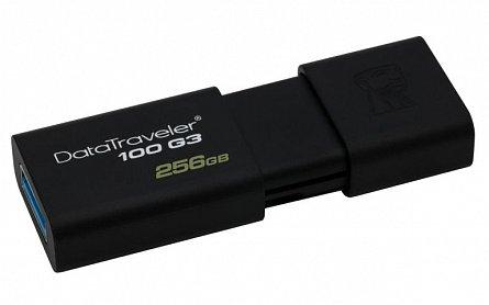 Stick Mem. USB3.0 Kingston Data Traveler DT100G3, 256GB, negru