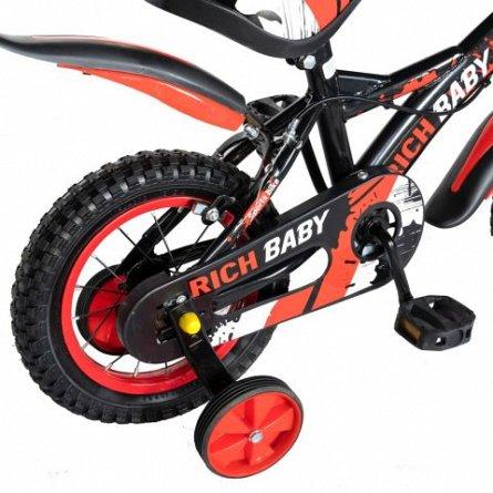 Bicicleta baieti 4-6 ani, roti 16 Inch, frane C-Brake, roti ajutatoare, Rich Baby CST16/04C, cadru n