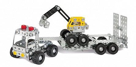 Set constructie Eitech - Camion cu remorca si excavator