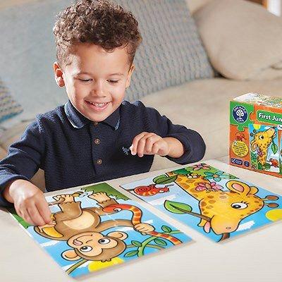 Puzzle Primii Prieteni din Jungla, Orchard Toys