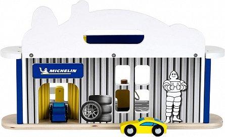 Statie reparatii masini cu spalatorie din lemn Michelin, Klein