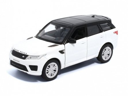Macheta auto 1:36,Land Rover Range Rover Sport alb, pull back,Tayumo