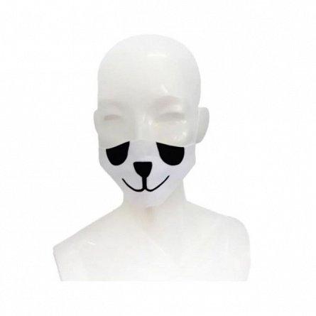 Masca de fata pentru copii reutilizabila, forma anatomica, cu botic panda, 6-12 ani