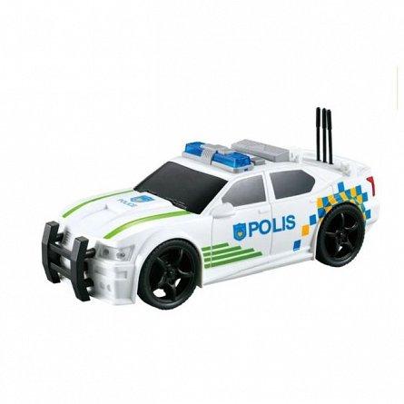 Masina de politie Polis cu frictiune, sunete si lumini, 1:20