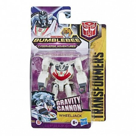 Transformers Bumblebee, Cyberverse Adventures - Figurina WeelJack, Gravity Cannon