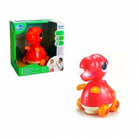 Jucarie interactiva Hola Toys - Baby Dino Tyrannosaurus Rex, cu sunete si lumini