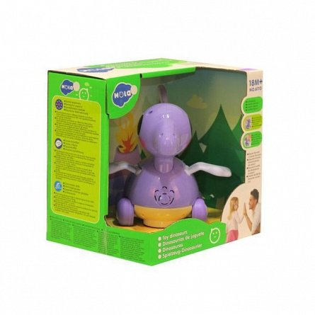 Jucarie interactiva Hola Toys - Baby Dino Pterosaur, cu sunete si lumini