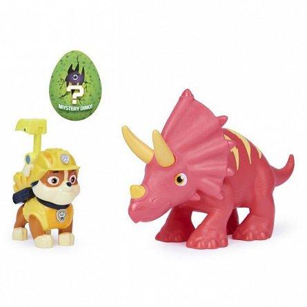 Set figurine Patrula Catelusilor - Rubble si Triceratops