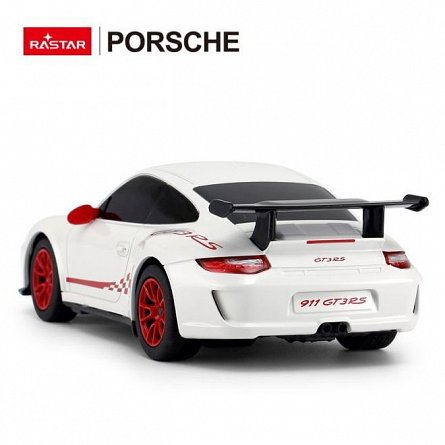 Masina RC Rastar - Porsche 911 GT3 RS, alb, 1:24