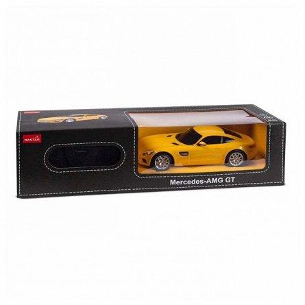 Masina RC Rastar - Mercedes AMG GT, galben, 1:24
