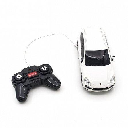 Masina RC Rastar - Porsche Cayenne Turbo, alb, 1:24